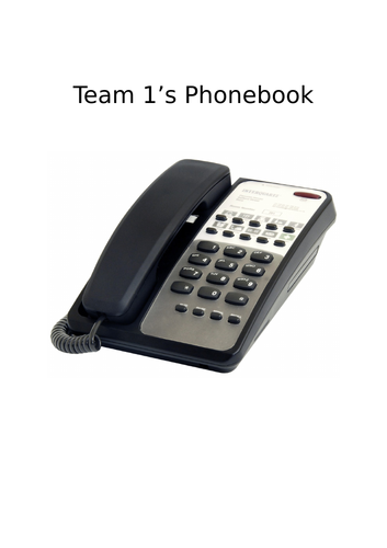 EYFS Character Phonebook to practise number recognition and communication