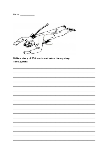 7 English creative writing story prompts - worksheets
