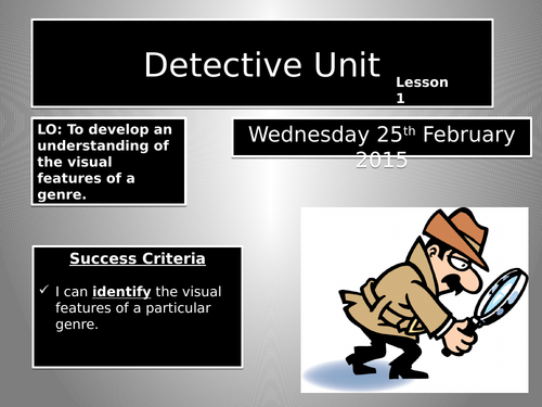 Introduction to Detective Fiction  full scheme of work and lessons