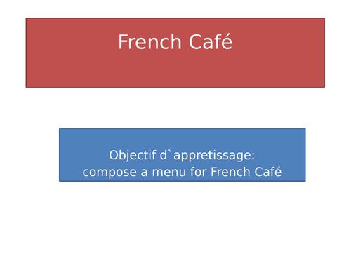 French café menu