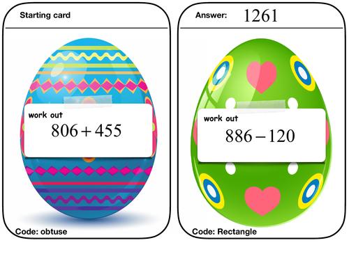 Mathematics Easter egg hunt