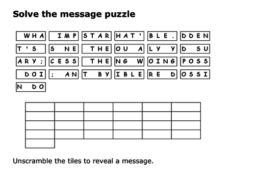 Solve the message puzzle from Saint Francis of Assisi