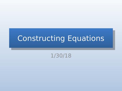 Constructing Equations