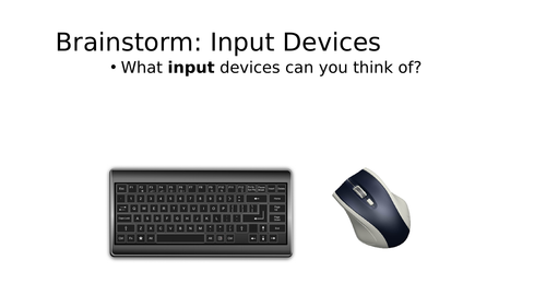 Input Devices - Full lesson -  Computer Science / ICT GCSE