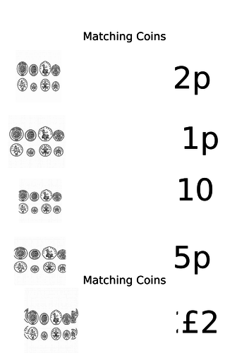 Matching Coins to Value