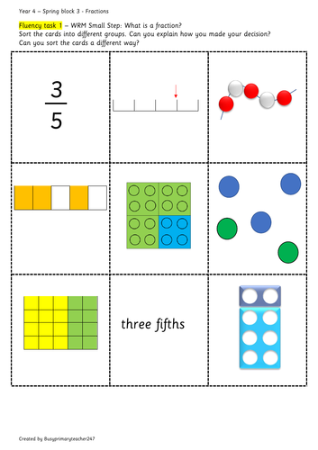 Year 4 – Spring Block 3 – Fractions -  What is a fraction?