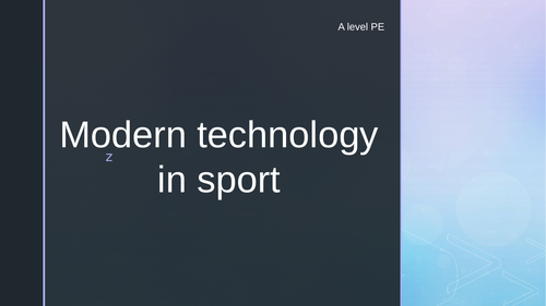 Modern Technology in Sport A level PE OCR 2016 Specification