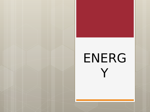 Energy Types and Resources