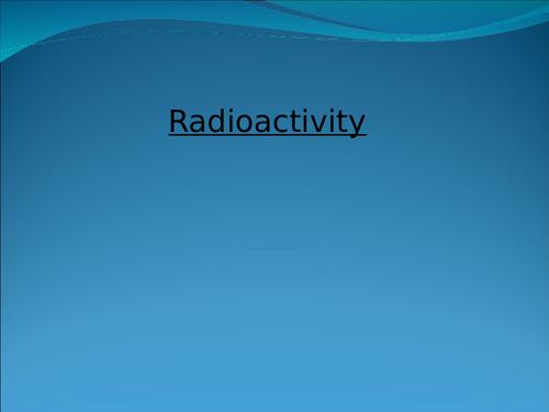 GCSE Radioactivity