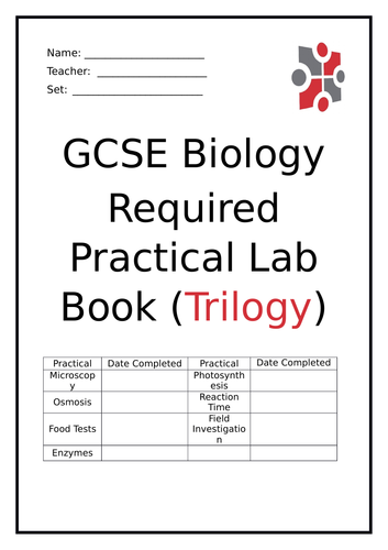 Biology Required Practical Lab Book (Trilogy & Triple) - AQA (9-1)