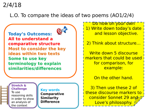 Comparing poetry - Love's Philosophy and Sonnet 29