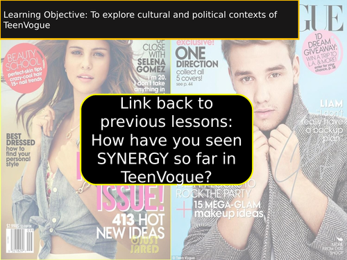 TeenVogue com genre narrative - using AQA guidance