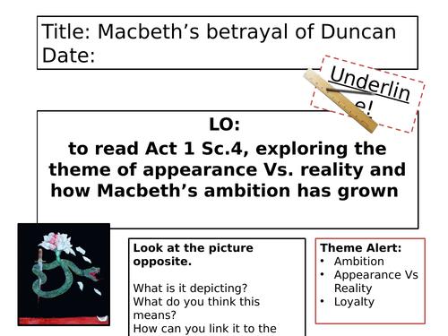 Macbeth - Act 1 Scene 4
