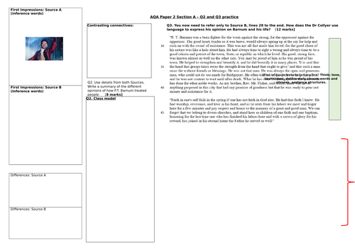 AQA English Language Paper 2 Q2 and Q3