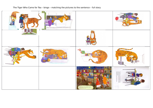The Tiger Who Came To Tea - guided reading