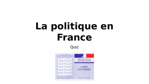La  politique en France - QUIZ (Janvier 2018)