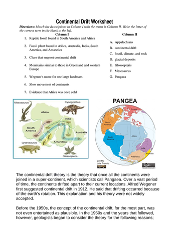 Aqa gcse geography 3112 plate tectonics continental drift aqa gcse geography 3112 plate tectonics continental drift plate boundaries 2 lessons by alisoncarrie teaching resources tes malvernweather Choice Image