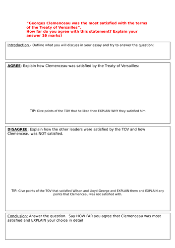 What Is The Thesis In An Essay Aqa  The Treaty Of Versailles By Catmarber  Teaching Resources  Tes Argumentative Essay Examples High School also Essays For Kids In English Aqa  The Treaty Of Versailles By Catmarber  Teaching Resources  Buy Essays Papers