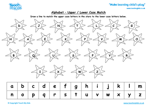 Writing the Alphabet - Match the Upper and Lower Case Letters
