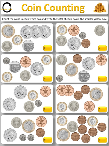 basic counting (numeracy) and coin recognition