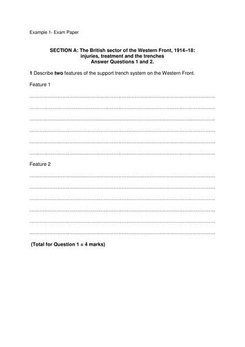 GCSE 9-1 Edexcel Medicine Mock Exam Paper