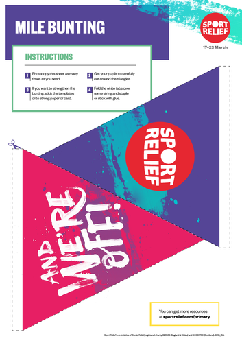 Sport Relief 2018: Event Bunting