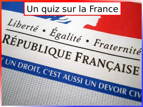 Quiz on France
