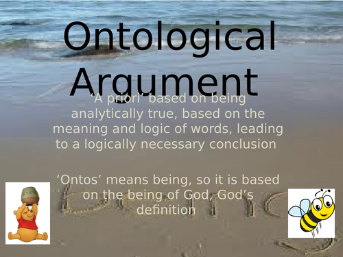Ontological argument for Religious Studies A-level