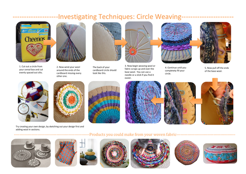 Circle Weaving How to Instructions