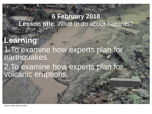 Managing earthquakes and volcanoes