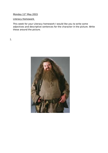 Hagrid description homework