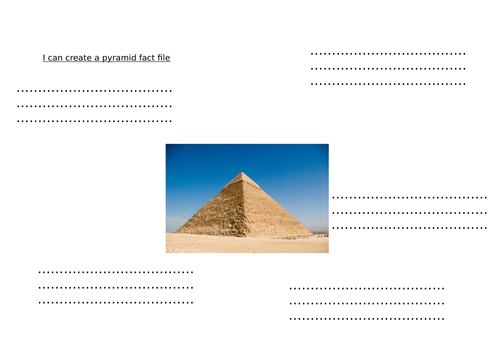 Pyramid facts when teaching the pyramids
