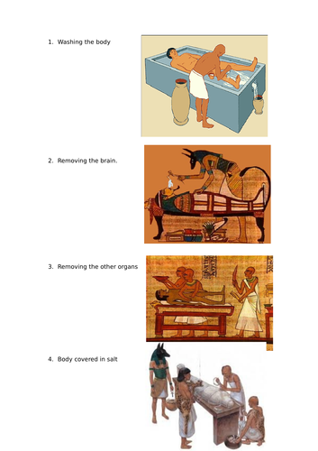 Stages of mummification
