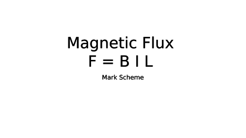 F = BIL Magnetic Flux Questions and equation manipulation.