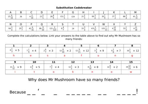 Codebreaker - Multiplying mixed numbers by whole numbers (Y5)
