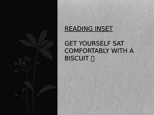 Staff INSET on Reading