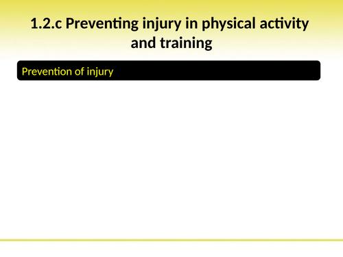 OCR GCSE PE: PowerPoint 1.2.c Preventing injury by jipwak