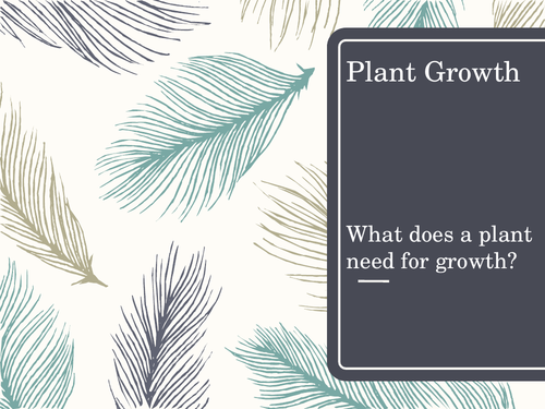 Plant Growth - selecting information and developing an explanation