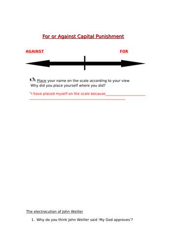 GCSE Religious Studies - Crime and Punishment - Capital Punishment