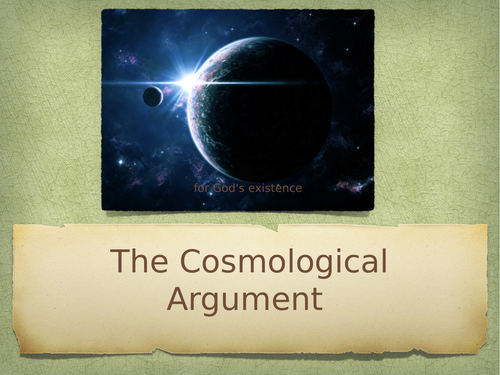 Cosmological Argument for God's existence