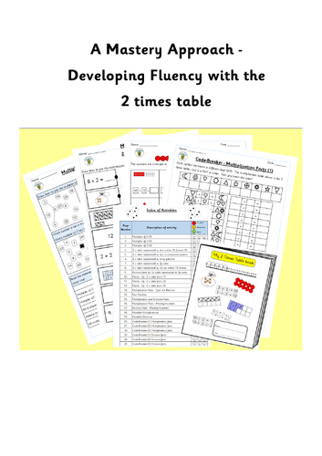 Activities to support learning the two times table (2x table)