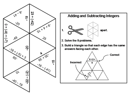 Maths tarsia puzzle zip file by mathsshed teaching resources tes adding and subtracting integers game math tarsia puzzle ccuart Choice Image
