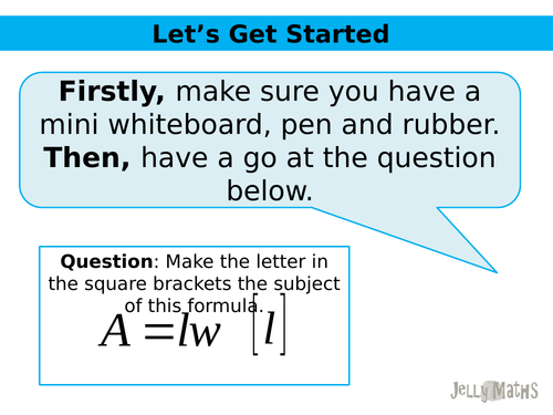 Changing the Subject PowerPoint