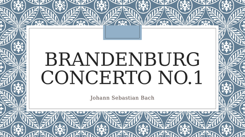 Bach Brandenburg Concerto no.1 Complete Module