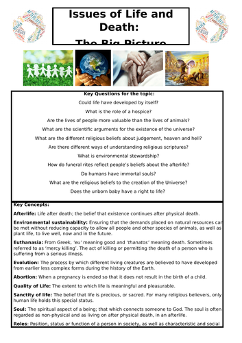 EDUQAS GCSE: Issues of Life and Death