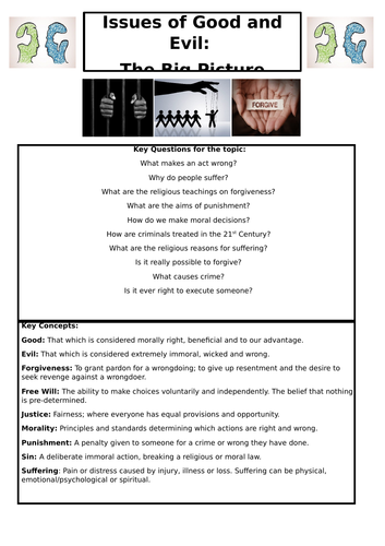 EDUQAS GCSE: Issues of Good and Evil