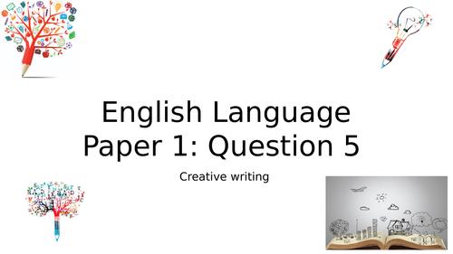GCSE English Language Paper 1 - Question 5
