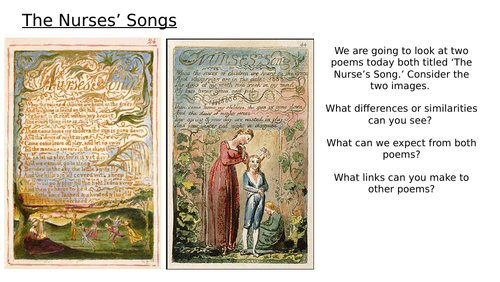 Blake - The Nurses' Songs - Songs of Innocence and Experience - Lessons 4 and 5