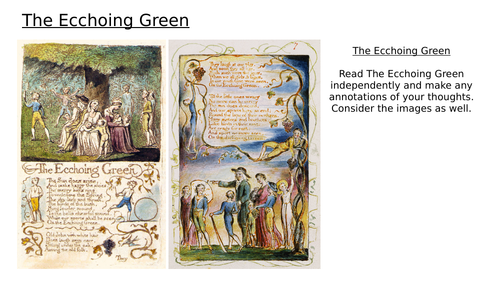 Blake - The Ecchoing Green - Songs of Innocence and Experience - Lesson 3