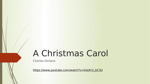 A Christmas Carol - Write a letter to Scrooge!